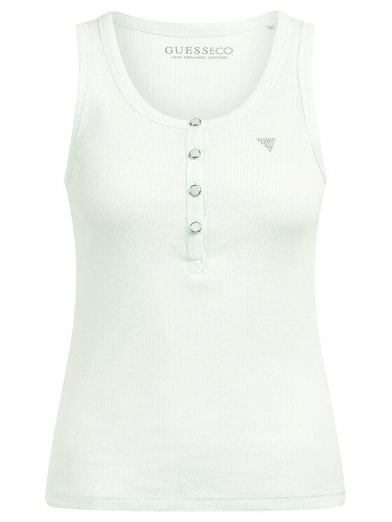 Guess Guess Marškinėliai Afrodite W0GP08 K9ON0 Žalia Slim Fit