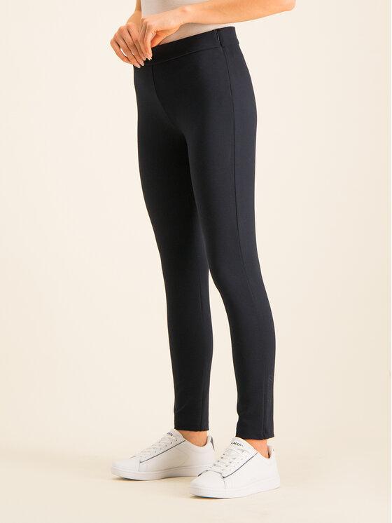 Lacoste Lacoste Kalhoty z materiálu HF2041 Tmavomodrá Slim Fit