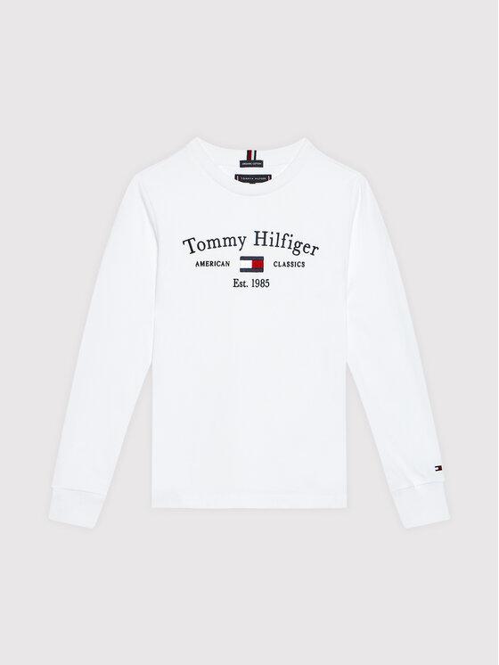 Tommy Hilfiger Tommy Hilfiger Bluzka Artwork KB0KB06318 D Biały Regular Fit