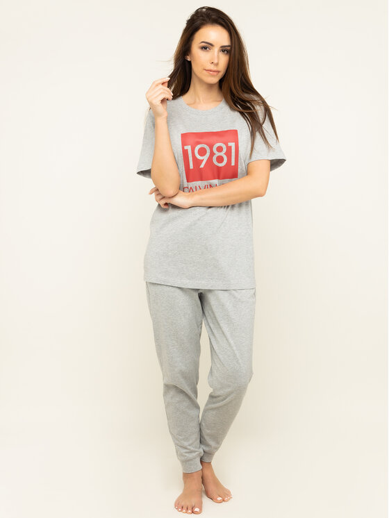Calvin Klein Underwear Calvin Klein Underwear Teplákové nohavice 000QS6311E Sivá Regular Fit