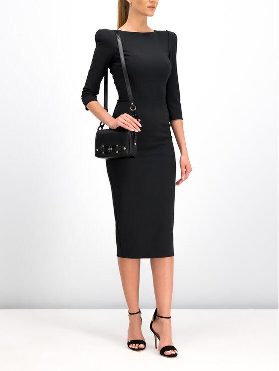 Elisabetta Franchi Elisabetta Franchi Koktejlové šaty AB-940-96E2-V349 Černá Slim Fit