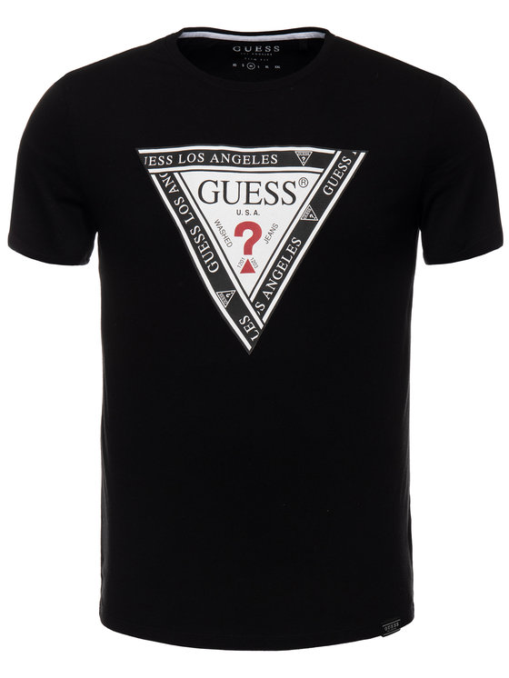 Guess Guess T-Shirt M93I45 R5JK0 Schwarz Slim Fit