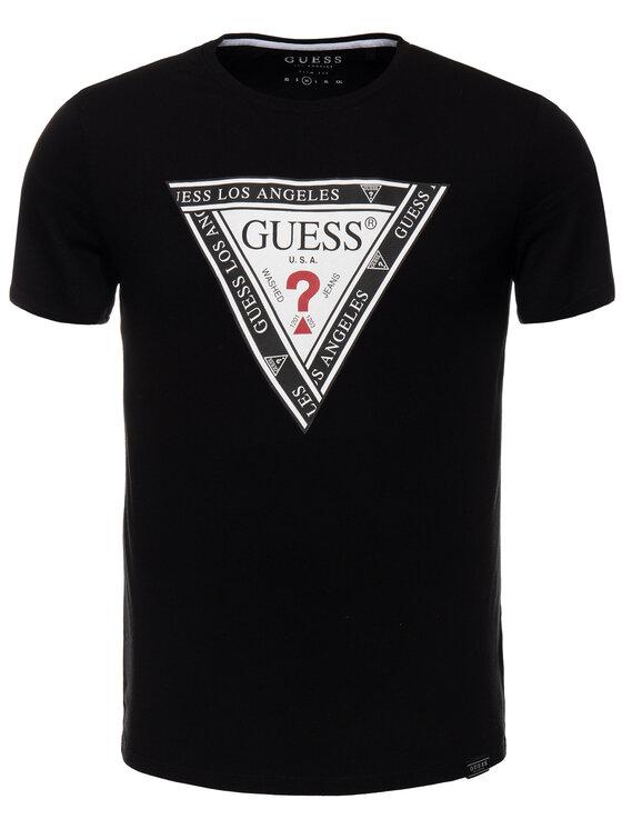 Guess Guess Tricou M93I45 R5JK0 Negru Slim Fit