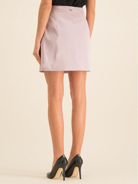 Guess Guess Trapézová sukňa Halah W01D20 WCKC0 Ružová Regular Fit