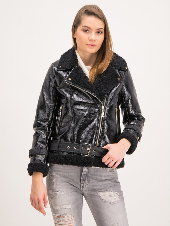 TwinSet TwinSet Veste en cuir 192MT2030 Noir Regular Fit