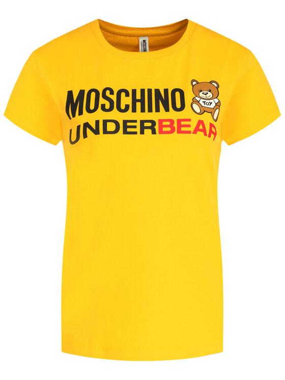 MOSCHINO Underwear & Swim MOSCHINO Underwear & Swim T-Shirt A1904 9003 Żółty Regular Fit