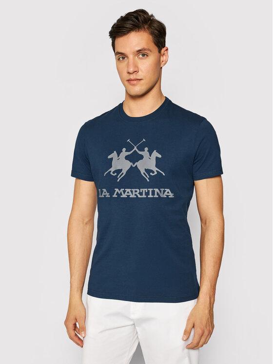 La Martina Marškinėliai Jersey CCMR01 JS206 Tamsiai mėlyna Regular Fit