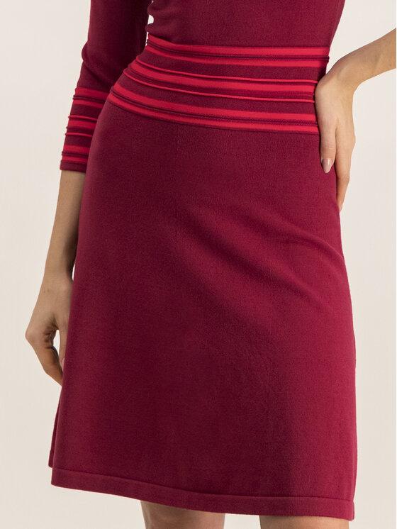 Hugo Hugo Φόρεμα υφασμάτινο 50413901 Μπορντό Regular Fit