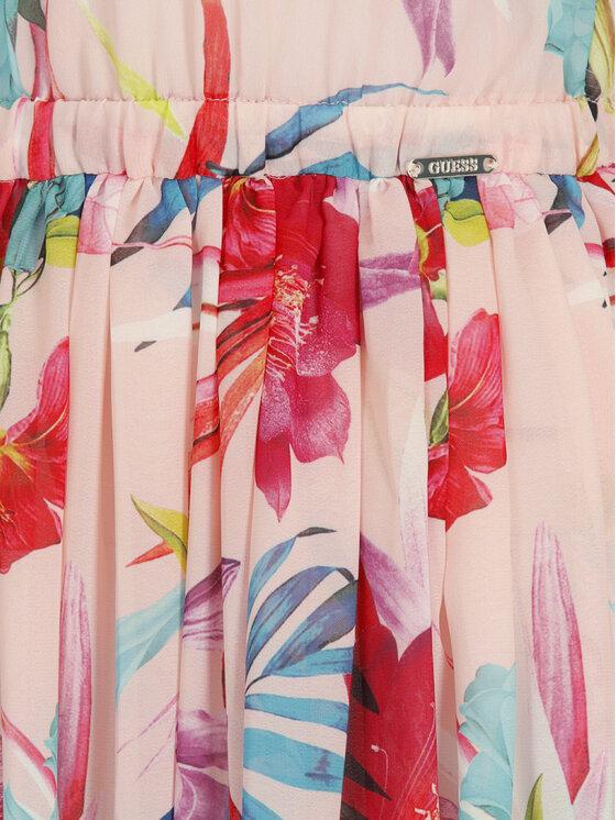 Guess Guess Sukienka letnia E92H11 WO03A Różowy Regular Fit