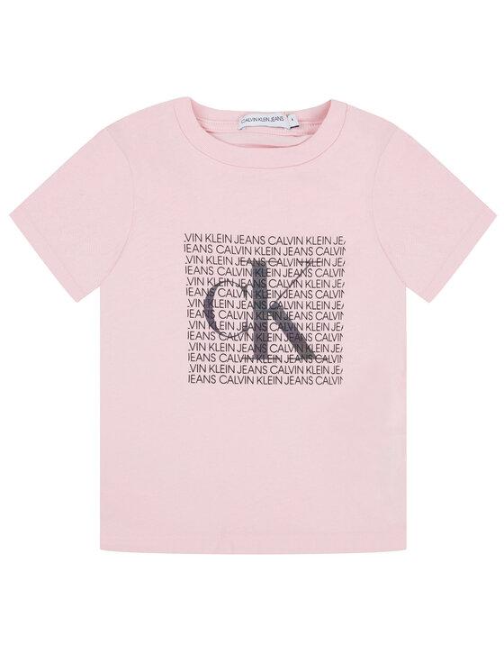 Calvin Klein Jeans Calvin Klein Jeans Тишърт Iridescnt Logo IG0IG00521 Розов Slim Fit