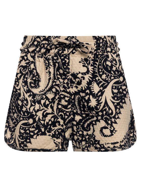 TWINSET TWINSET Šortky z materiálu Shorts 191TT2192 Béžová Regular Fit