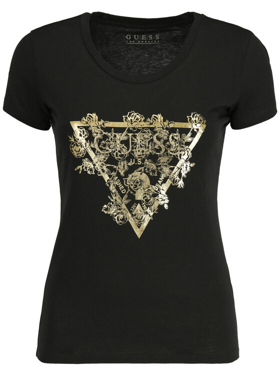 Guess Guess Тишърт W92I37 K75R0 Черен Relaxed Fit