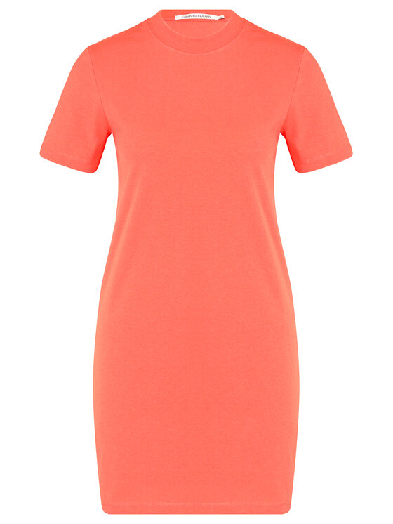 Calvin Klein Jeans Calvin Klein Jeans Každodenné šaty J20J211556 Oranžová Regular Fit