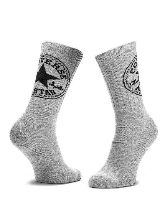 Converse Converse Комплект 2 чифта дълги чорапи мъжки E556L2010 Сив