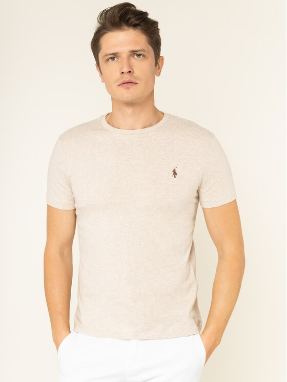 Polo Ralph Lauren Polo Ralph Lauren T-shirt 710671438 Beige Custom Slim Fit