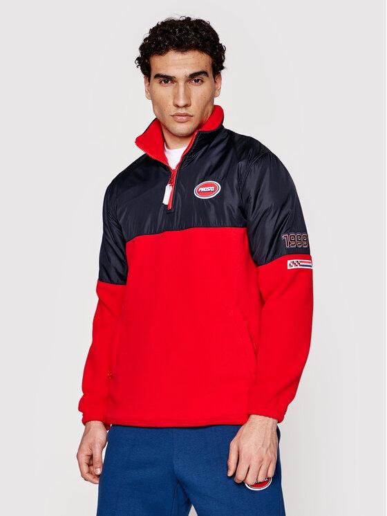 PROSTO. Fliso džemperis KLASYK Torque 5011 Raudona Regular Fit
