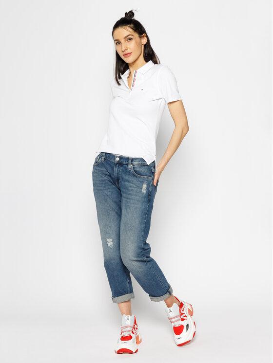 Tommy Jeans Tommy Jeans Polo Original DW0DW04434 Biały Regular Fit