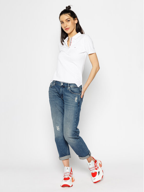 Tommy Jeans Tommy Jeans Polokošeľa Original DW0DW04434 Biela Regular Fit