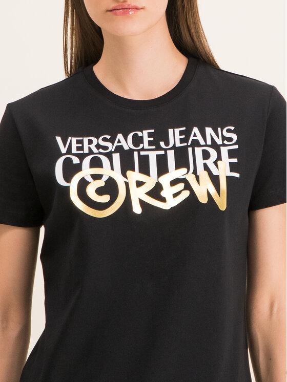 Versace Jeans Couture Versace Jeans Couture Tricou B2HUB7G0 Negru Regular Fit