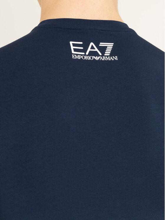 EA7 Emporio Armani EA7 Emporio Armani Тишърт 3HPT08 PJ03Z 3905 Тъмносин Regular Fit