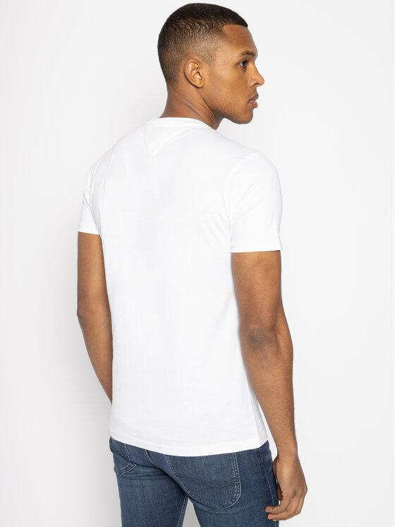Tommy Jeans Tommy Jeans T-shirt Script DM0DM07011 Blanc Regular Fit