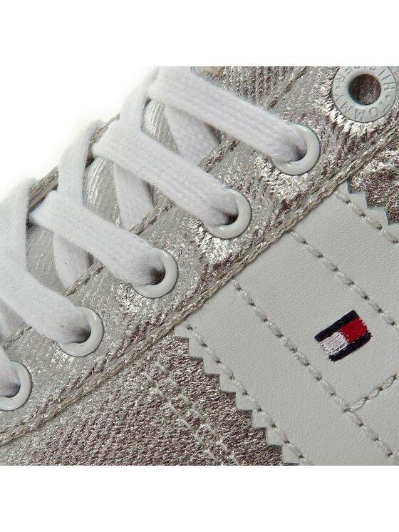 Tommy Hilfiger Tommy Hilfiger Sneakersy Lizzie 1D1 FW0FW00417 Srebrny