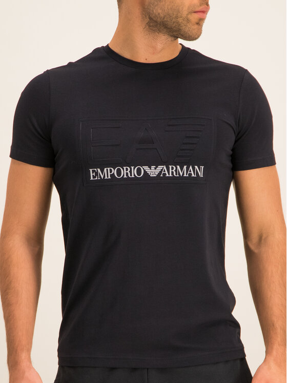 EA7 Emporio Armani EA7 Emporio Armani Póló 3HPT13 PJ03Z 1200 Fekete Regular Fit