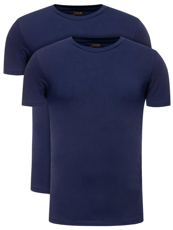 Polo Ralph Lauren 2 marškinėlių komplektas 714621944 Tamsiai mėlyna Slim Fit