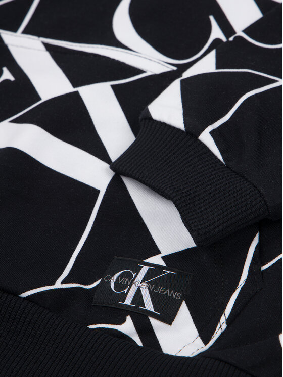 Calvin Klein Jeans Calvin Klein Jeans Bluza Mirror Monogram IB0IB00361 Czarny Regular Fit