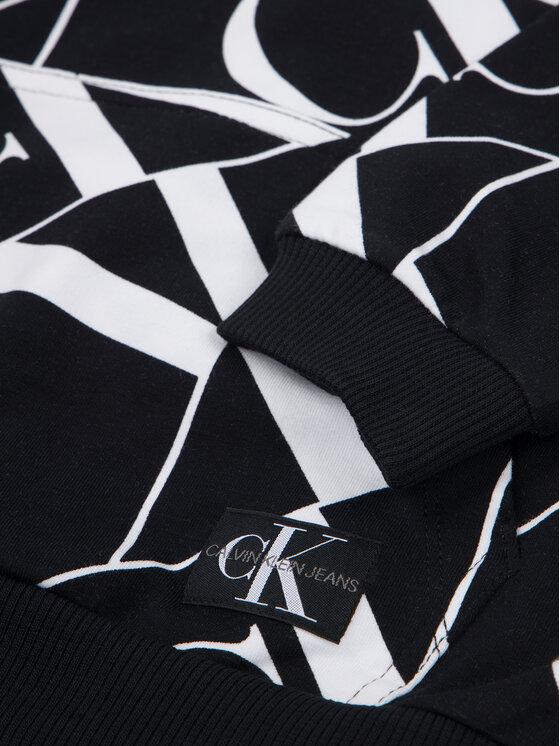 Calvin Klein Jeans Calvin Klein Jeans Mikina Mirror Monogram IB0IB00361 Černá Regular Fit