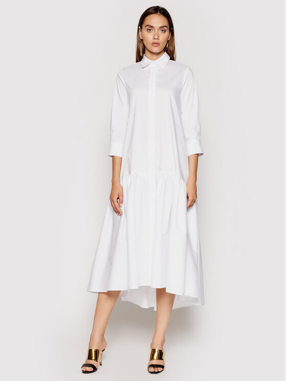 Imperial Kasdieninė suknelė A9MYBBE Balta Regular Fit