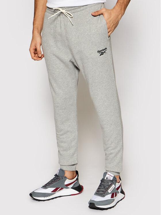 Reebok Reebok Spodnie dresowe Identity GJ0633 Szary Regular Fit
