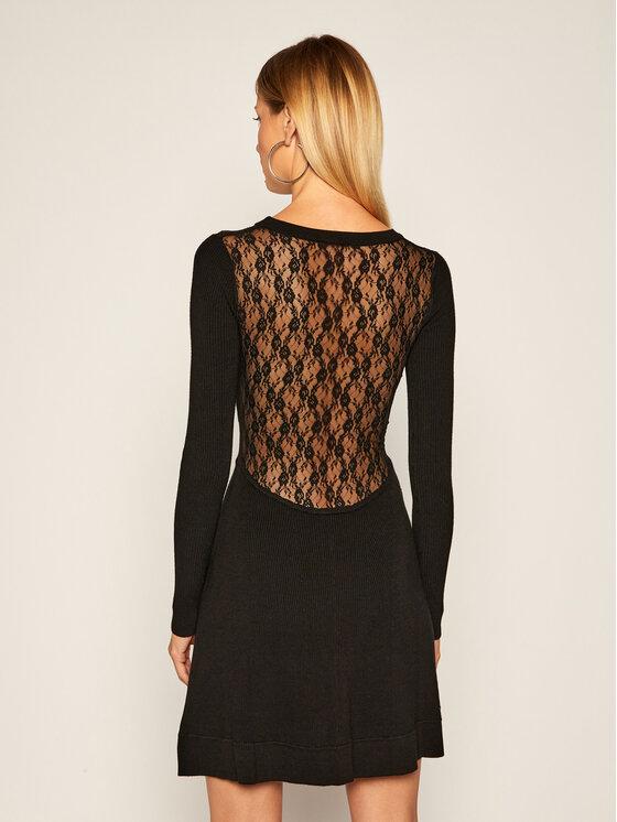 Pinko Pinko Úpletové šaty Somalia AI 20-21 BLK01 1G156H Y6F9 Černá Regular Fit