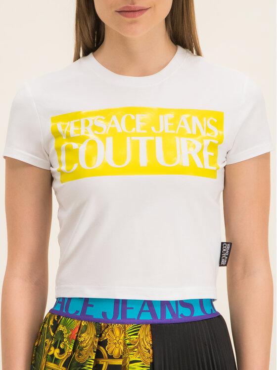 Versace Jeans Couture Versace Jeans Couture Tričko B2HVA7V6 Biela Slim Fit