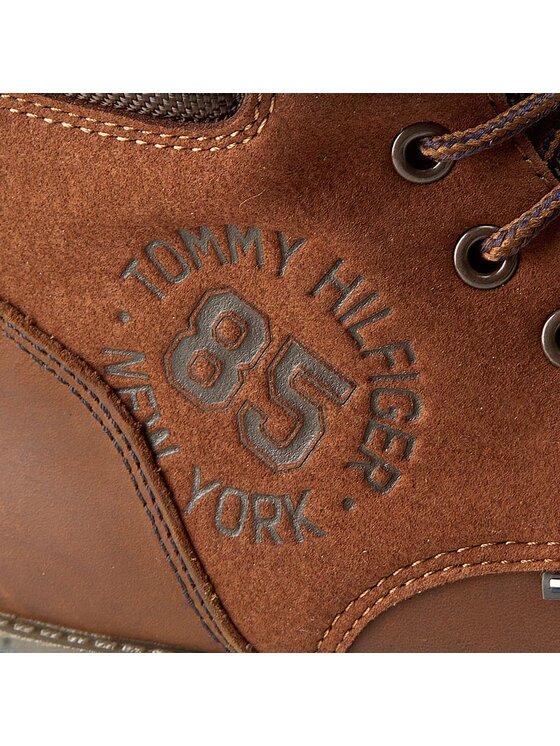 Tommy Hilfiger Tommy Hilfiger Schnürstiefeletten Houston Jr 1C FB56821693 Braun