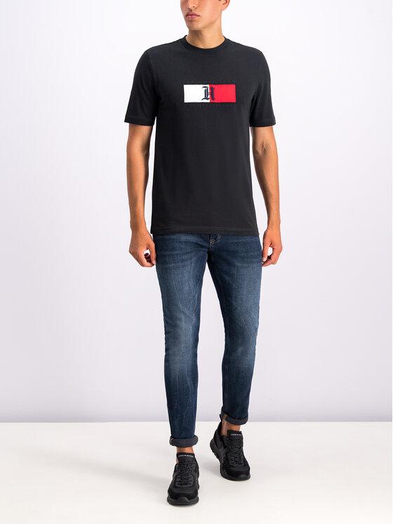 Tommy Hilfiger Tommy Hilfiger T-Shirt LEWIS HAMILTON Flag MW0MW11428 Schwarz Regular Fit