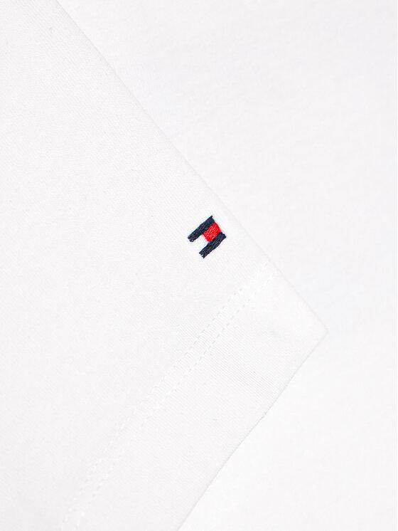 Tommy Hilfiger Tommy Hilfiger T-Shirt Flag Print KG0KG05909 M Biały Regular Fit