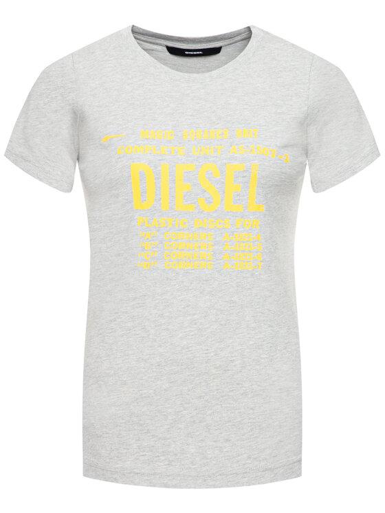 Diesel Diesel Marškinėliai T-Sily-Zf 00SYVT 0091A Pilka Regular Fit