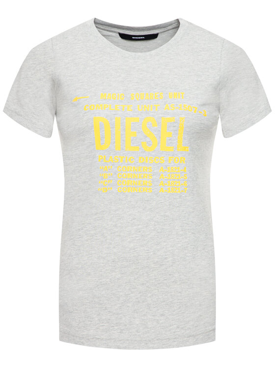 Diesel Diesel T-Shirt T-Sily-Zf 00SYVT 0091A Szary Regular Fit