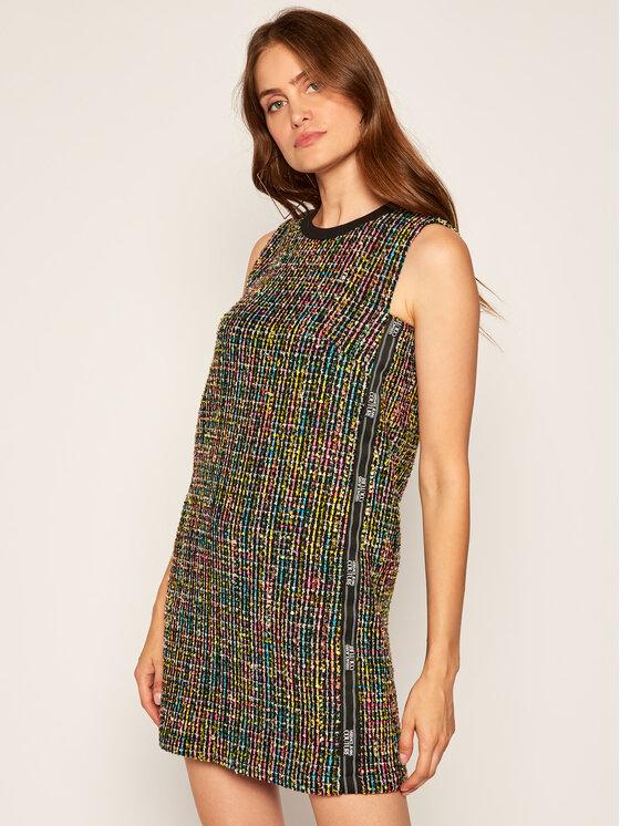 Versace Jeans Couture Sukienka dzianinowa D2HZA437 Kolorowy Regular Fit