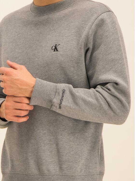Calvin Klein Jeans Calvin Klein Jeans Džemperis Embroidered Logo J30J314536 Pilka Regular Fit