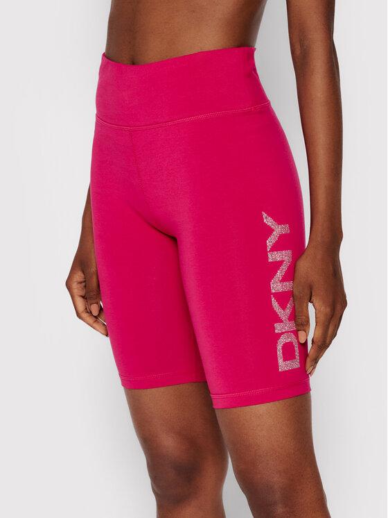 DKNY Sport Dviratininko šortai DP1S4865 Rožinė Skinny Fit