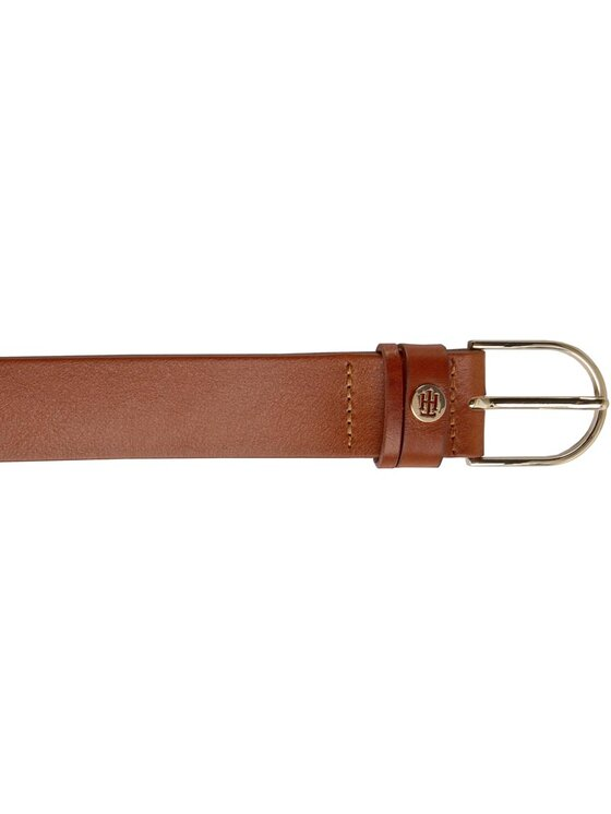 Tommy Hilfiger Tommy Hilfiger Ceinture femme Classic Dbl Loop TH Coin Belt 3,5 AW0AW03773 Marron
