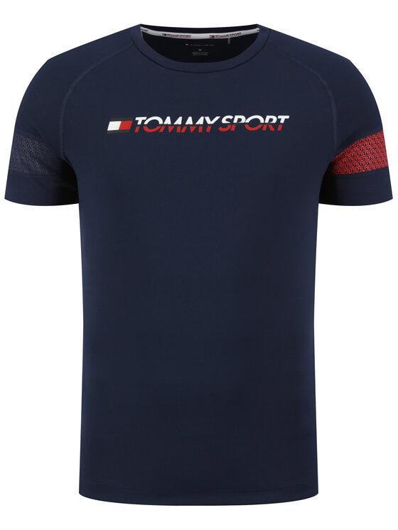 Tommy Sport Tommy Sport Marškinėliai Glow Performance S20S200340 Tamsiai mėlyna Loose Fit