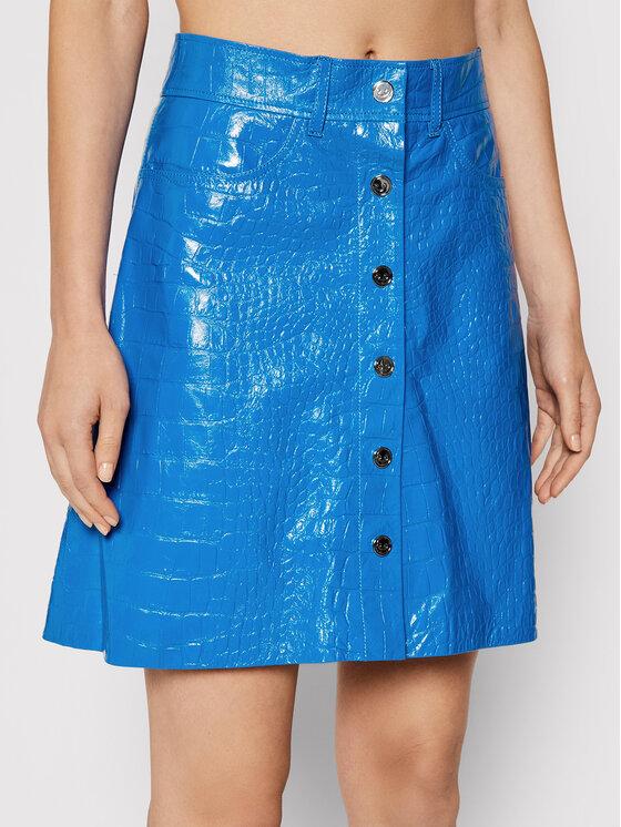 Remain Odinis sijonas Carmela Short RM366 Mėlyna Slim Fit