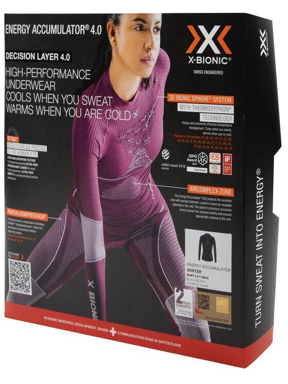 X-Bionic X-Bionic Bielizna termoaktywna górna Energy Accumulator 4.0 EAWT18W19W Czarny Slim Fit