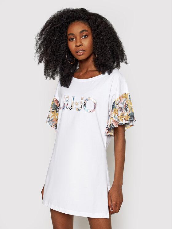 Liu Jo Beachwear Vasarinė suknelė VA1103 J5003 Balta Regular Fit