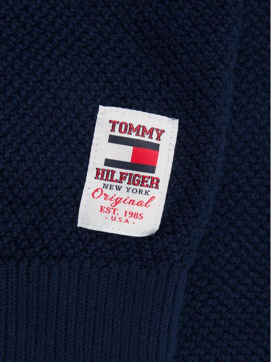Tommy Hilfiger Tommy Hilfiger Pulover Through Cable KB0KB05407 M Bleumarin Regular Fit