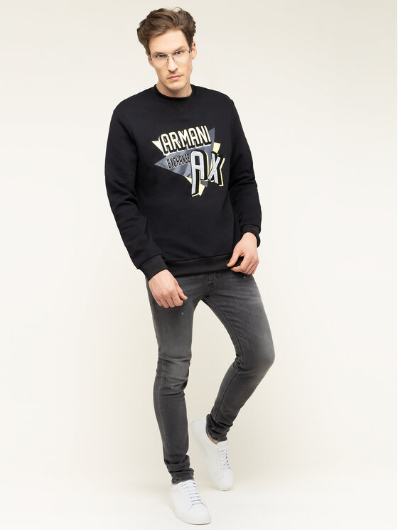 Armani Exchange Armani Exchange Sweatshirt 3HZMAJ ZJ4FZ 1200 Noir Regular Fit