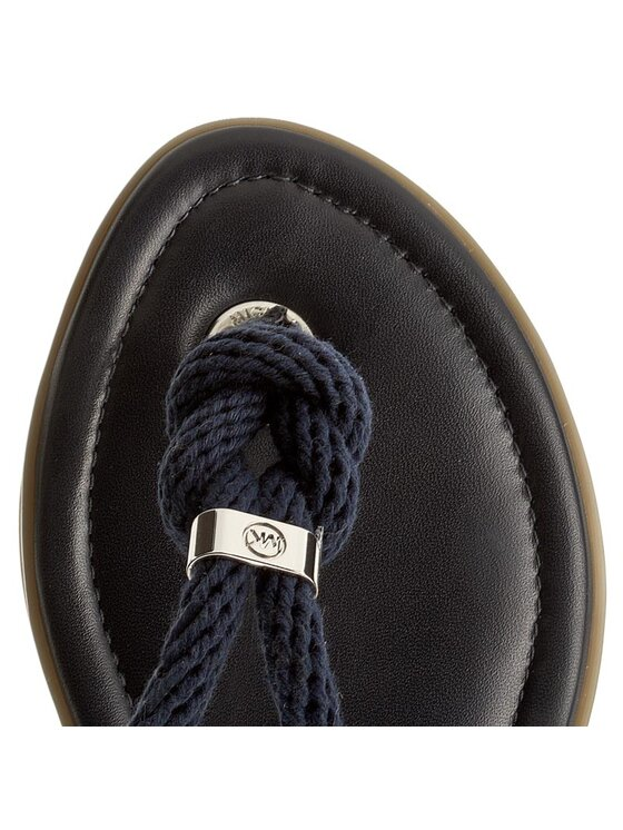 MICHAEL Michael Kors MICHAEL Michael Kors Σαγιονάρες Holly Sandal 40T5HOFA2L Σκούρο μπλε